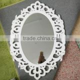 chinese style antique wood hand carved decorative wood mirror frame