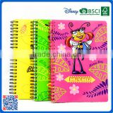 Hot selling A6 spiral binding hardcover notebook with customized for school kids and office