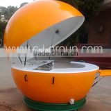 Outdoor Fiberglass Buffet Orange Kiosk FRP Food tailor