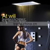 led shower complete set 3 Way in wall thermostatic shower faucet with 360*500mm electric shower + 6 pcs massage body jets