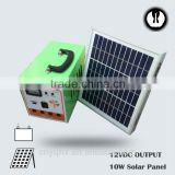 DC energy portable emergency controller home solar panel system for house use with mobile charger with battery