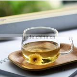 China factory export OEM home drinking 300ml borosilicate shot glass tea cup with handle