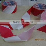 Red and white PE warning barrier tape