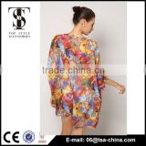 Women kaftan print beach dress beachwear bikini cover up