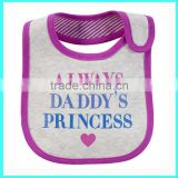 OEM Daddy's Princess towel bibs for babies towel bibs for toddlers sassy teething bibs