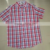 100% COTTON YARN DYED CHECK DESIGN SHORT SLEEVE SHIRTS
