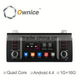 Wholwsale ownice quad core android 4.4 multifunction car DVD for BMW E39 M5 support rear camera ipod dvr USB