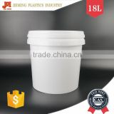 18lt Round PP Plastic Buckets with Lids & Handle, Anti Static Pail for Oil Lubricants