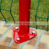 Galvanized and PVC Coated Welded Wire Mesh Fence Nylofor 3D Security Fence with peach post