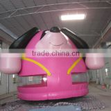 2016 Sunjoy factory price lovely pink dog inflatable jumping bouncy castle,bounce house for kids