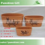Terracotta garden flower plant pot