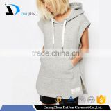 hot selling furcal pullover with drawstring high quality fleece white oversiezed casual sleeveless hoodies for women
