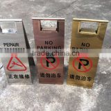 Folding Standing Parking Sign and Stainless Steel Waterproof Folding Wet Floor Warning Sign Board