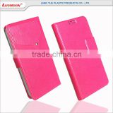 Universal smart phone flip wallet style leather case