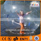 TPU inflatable water walking ball rental with Germany Tizip zipper, inflatable ball person inside
