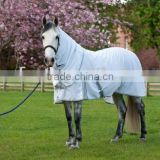 horse cotton combo sheet in white