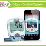 Glucometer, Easy Glucometer, Glucometer Test Strip, Bluetooth Blood Glucose / Cholesterol Meter, SIFGLUCO-3.1