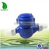 Multi jet, vane wheel, plastic body dry Wet dial water meter