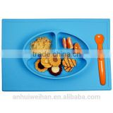 Amazon hot sale baby feeding food mat one piece silicone baby plate