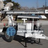 HF120W trailer type rotary drilling rig, also can with with air compressor