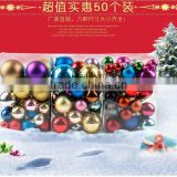 PVC Colorful Christmas Tree Decorations Plastic Ball Christmas Tree Ornament Baubles X-Mas Balls For Wholesale