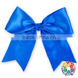 Royal Blue Ribbon Hair Bow 13 Color Choices, Snap Clip, Non Slip Grip, Newborn Hairbow