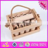 2017 Hot sale outdoor garden throwing group wooden molkky game W01A180-S
