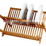 2016 Fashion Folding Bamboo plate rack