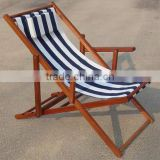 2016 wooden beach chair with canvas fabric for outdoor furniture