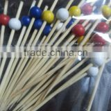 2016 China Direct Supplier Manufacturer Wholesale Bamboo colorful ball Bbq Skewers