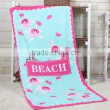 80% polyester 20% polyamide microfiber terrying printed beach towel custom print beach towel