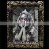 Luminous light photo frame change in different angle Halloween decorate