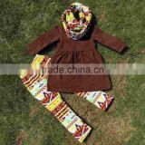 FALL OUTFITS persnickety girls 3 pieces sets girls Christmas pant sets girls boutique clothes kids brown top sets