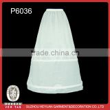 P6036 White Wedding Dress Skirt Dress Bridal Hoop Petticoat