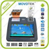 Movotek Android POS Terminal with thermal printer, 1D/2D barcoder scanner, NFC/RFID, 3G, GPRS, WIFI, Ethernet for prepaid electricity, lotto solutions