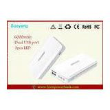 Portable ipad Tablet PC ABS Power Bank 10000mah 5V 1A , Mobile Phone Battery Packs
