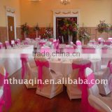 Wedding banquet chair cover and polyester chair cover fashion good market decorative chair cover