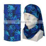 100% polyester material outdoor sports absorbing headband mutifunctional seamless tube headwear bandanas with custom logo print
