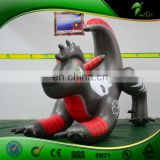 Black Inflatable Cartoon Dog Figure Replica Balloon Inflatables Animal Costume Dog Character Toys Strong PVC 0.4