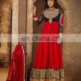 New Bollywood Indian Party Wear Anarkali Long Pakistani Salwar Kameez Fancy Salwar Kameez Heavy Bridal Suit R1268