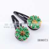 fashion alloy round vintage alloy flower hair clip hair clip wholesale