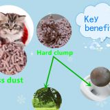 Hard clump and odor control tofu cat litter--peach scent
