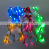 Factory supplier fashionable light CE RoHS colorful LED nylon shoelace
