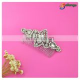 Bridal accessories silver rhinestone personalized hair comb