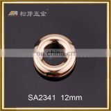 Song A Metal rose gold Zinc alloy fancy eyelet small size 12mm metal eyelet for purse