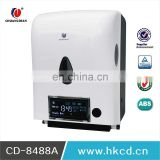 China products ABS Auto cut Sensor Paper Dispenser Electronic Paper Towel Dispenser with LCD CD-8488C