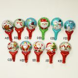 Xmas stick balloon foil ballon mylar balloon toy gift in stock