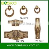 gold ring handle with different finishing
