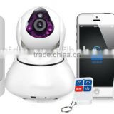 720p Hisilicon Hi3518E wifi p2p ip camera with alarm push 3 Mobile Phones via APP to notice users to check site conditions