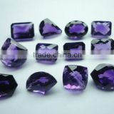 Amethyst african and brazilian cut mix shape normal fancy cut gems calibrated rose cut fine cabochon